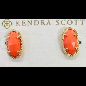 Kendra Scott Coral Ellie Earrings